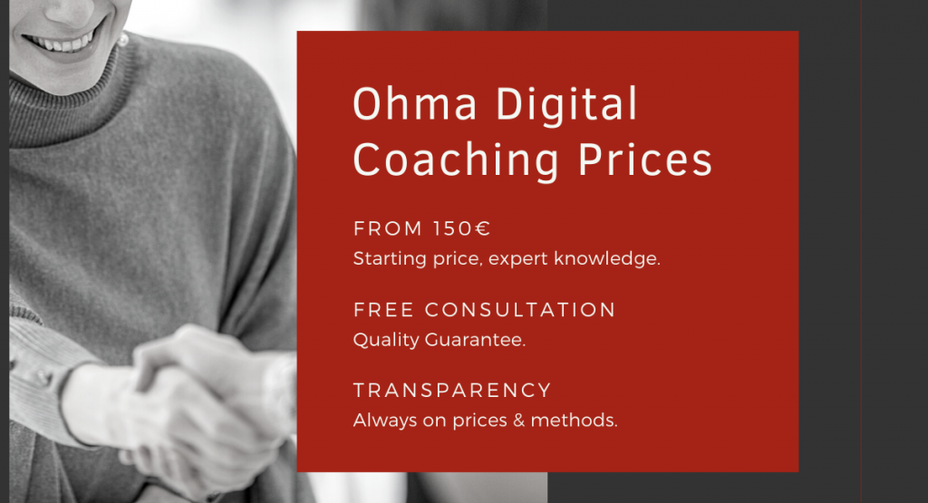 How much for a Coaching with Ohma Digital?