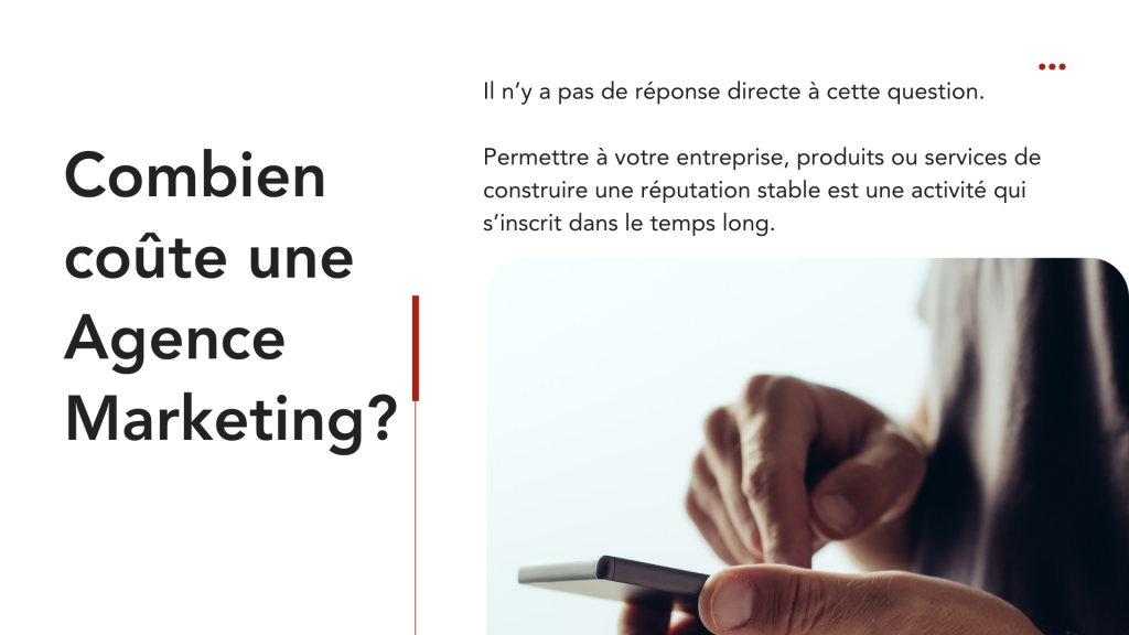 Combien coûte une Agence Marketing?