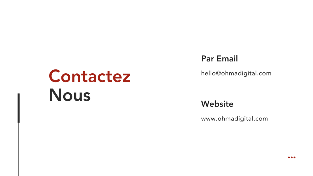 Marketing & Prix - Contactez-nous