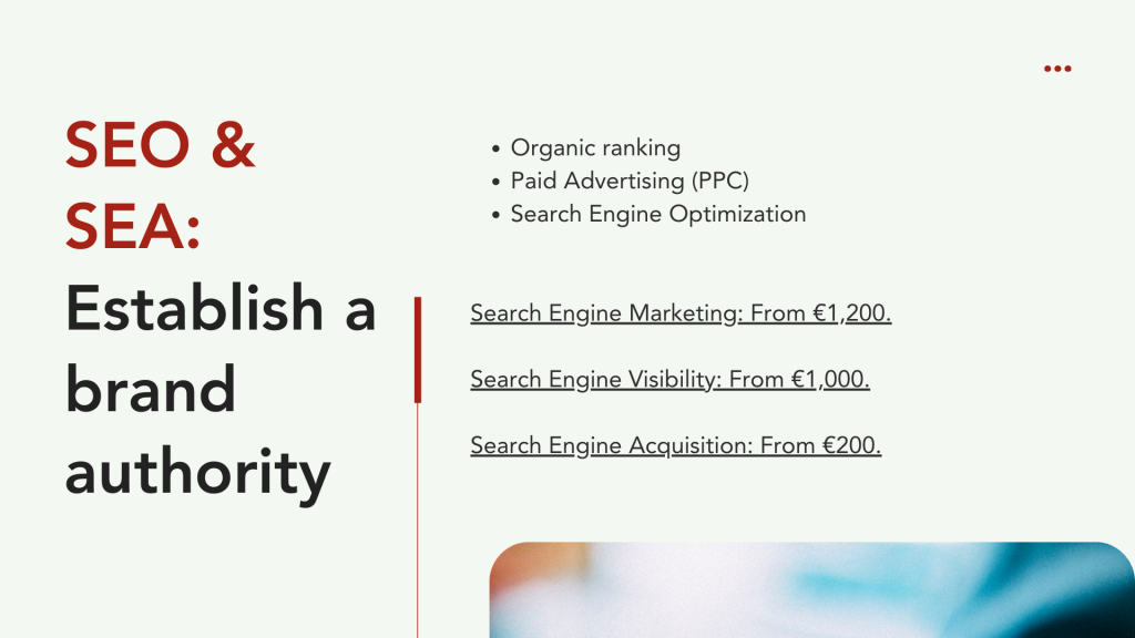 How much for Marketing - SEO and SEA Costs