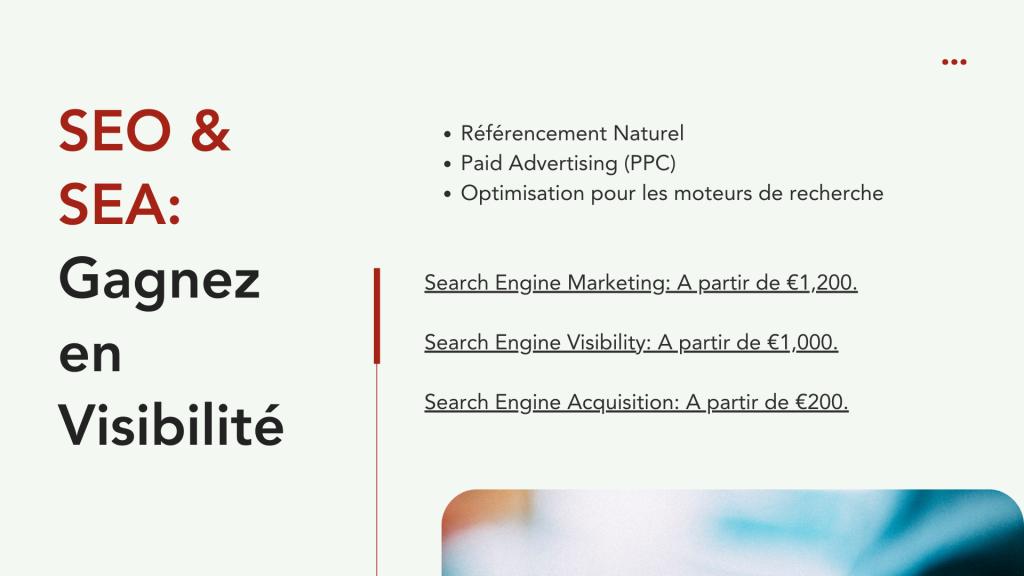 Marketing & Prix - SEO et SEA: Obtenez des résultats concrets, gagnez en visibilité.