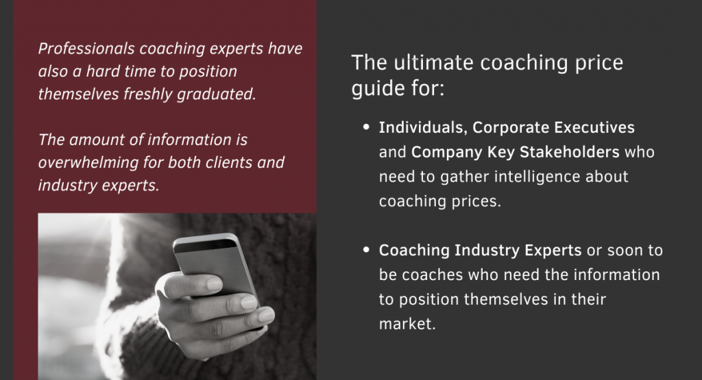 The ultimate coaching prices guide for coachs, professionals and individuals