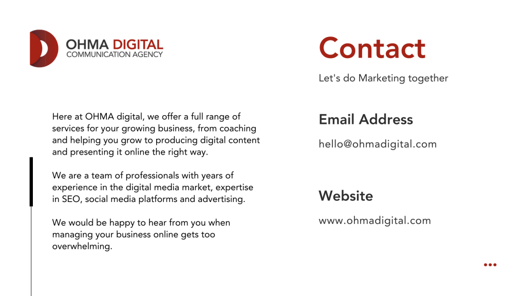 Ohma Digital Contact - What is SEO