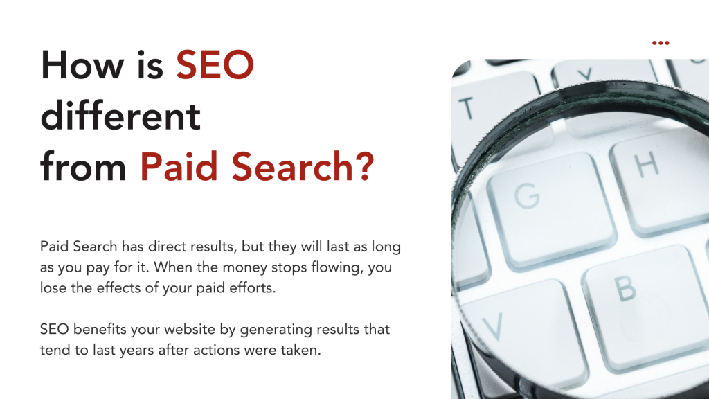 How is SEO different from Paid Search?