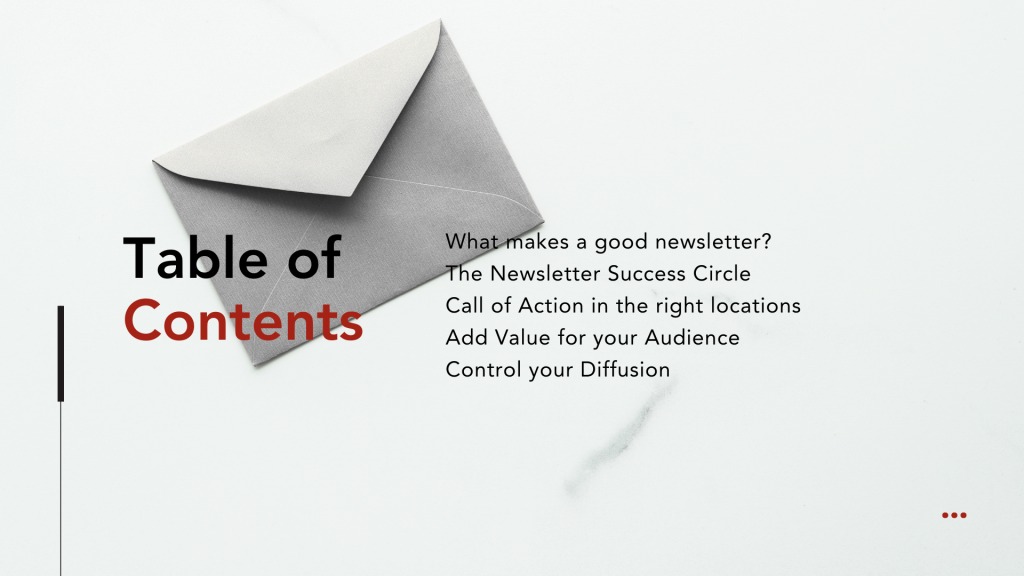 How to Get More Email Subscribers - 3 Simple Rules - Table of Content