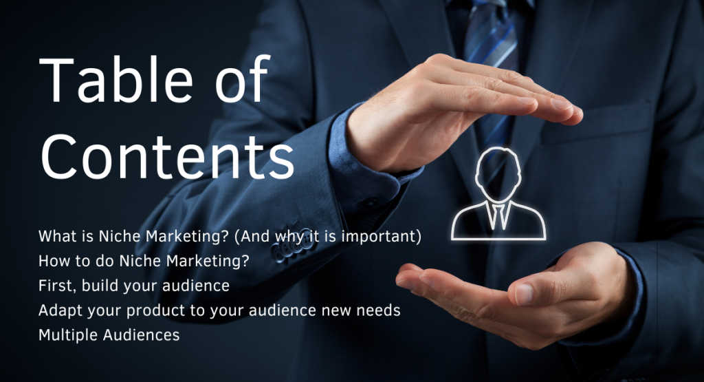 Niche marketing table of contents