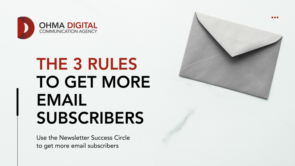 How to Get More Email Subscribers - 3 Simple Rules - Title