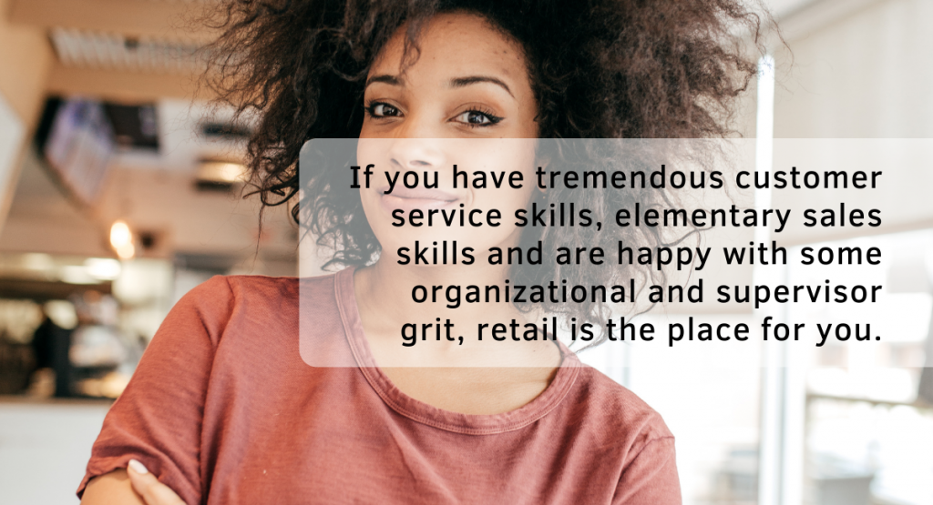Many retail brands have training programs and are eager to see their employees grow and thrive.