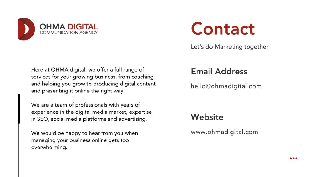 Ohma Digital Contact - English