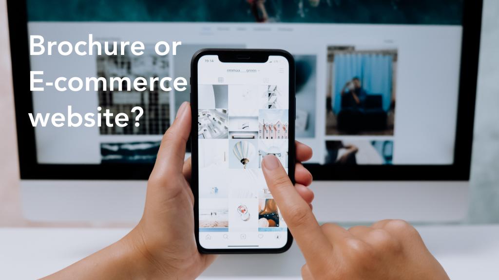Brochure or e-commerce website