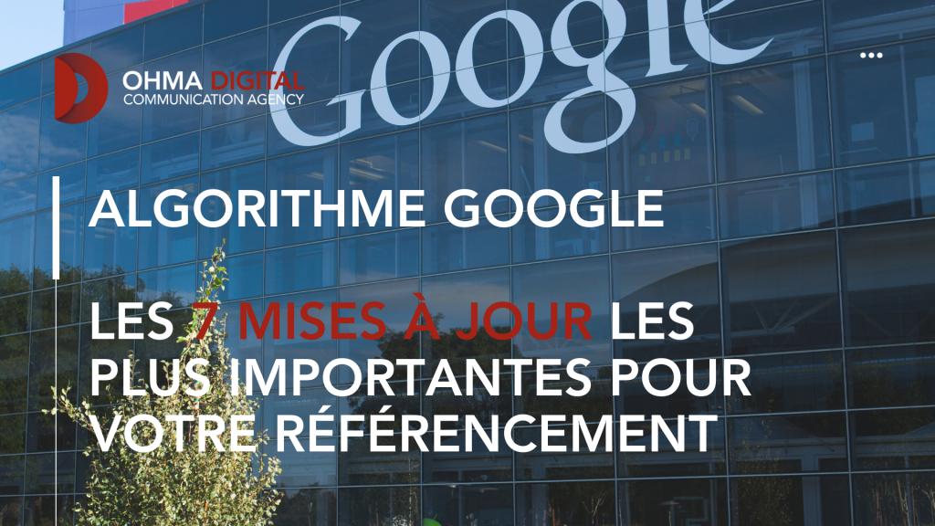 Algorithme Google _ Les 7 mises à jour les plus importantes pour votre référencement